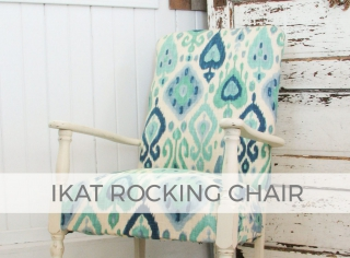 Upholstered Ikat Rocking Chair by Larissa of Prodigal Pieces | prodigalpieces.com #prodigalpieces