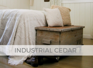 Industrial Cedar Blanket Chest by Larissa of Prodigal Pieces | prodigalpieces.com #prodigalpieces