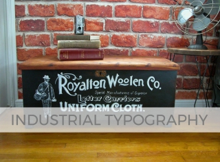 Vintage Acme Cedar Chest with Industrial Typography by Larissa of Prodigal Pieces | prodigalpieces.com #prodigalpieces