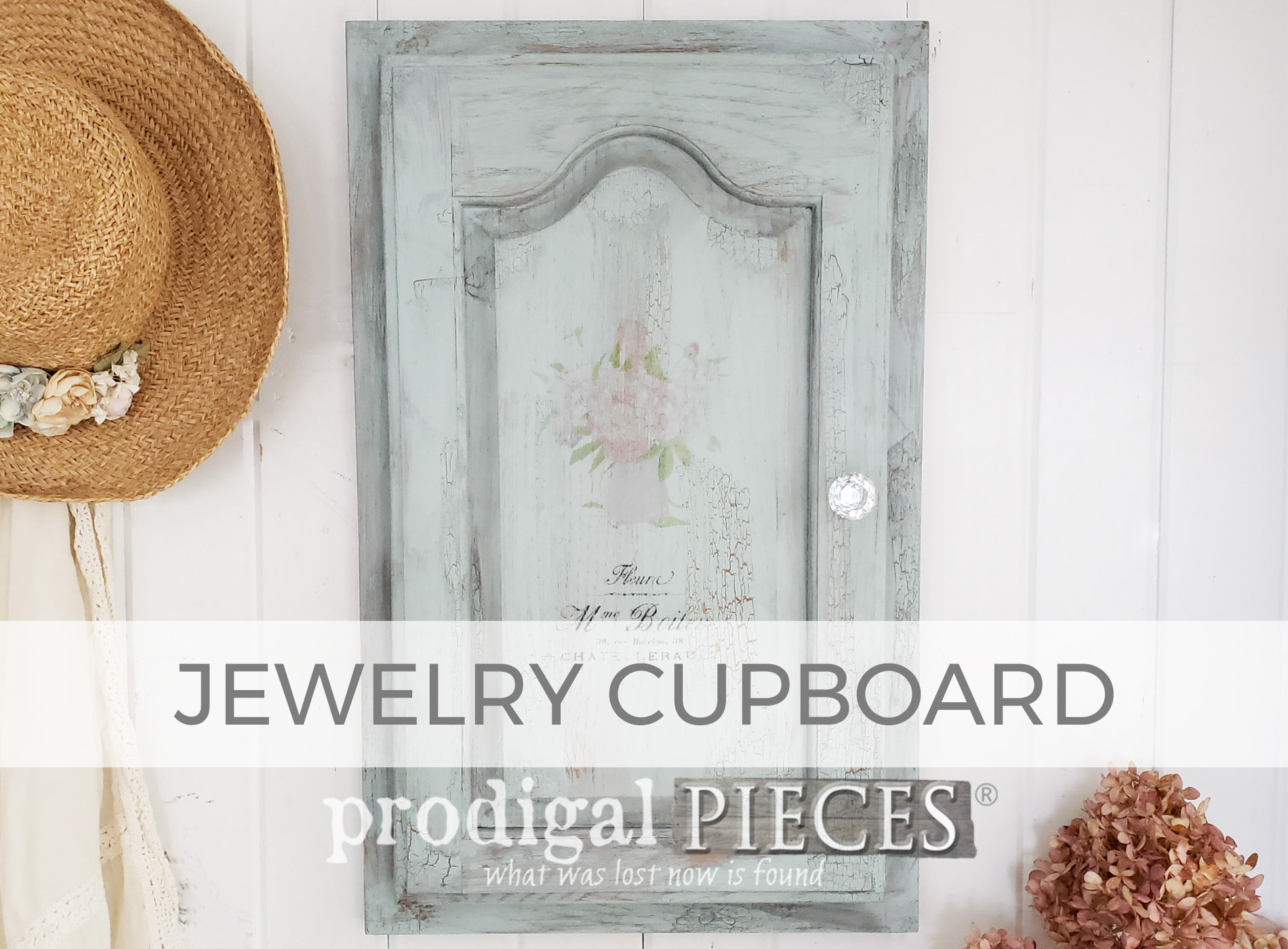Upcycled Cupboard Door into Jewelry Cupboard by Larissa of Prodigal Pieces | prodigalpieces.com