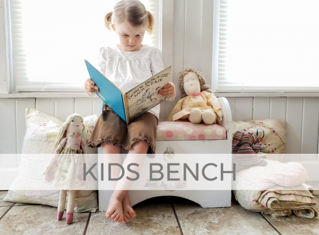 Kids Bench from Upcycled Magazine Rack by Larissa of Prodigal Pieces | prodigalpieces.com