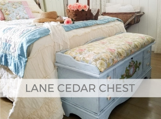 Upholstered Lane Cedar Blanket Chest by Larissa of Prodigal Pieces | prodigalpieces.com #prodigalpieces