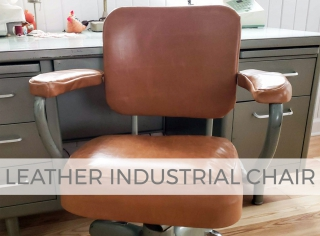 Upholstered Leather Industrial Chair by Larissa of Prodigal Pieces | prodigalpieces.com #prodigalpieces