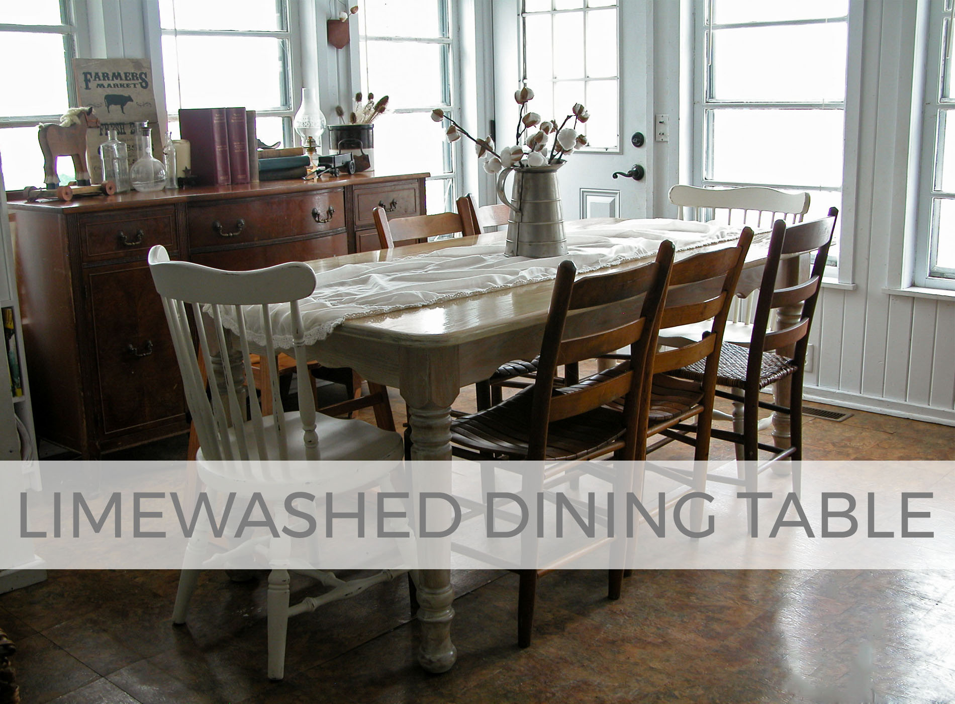 Limewashed Dining Table Tutorial by Larissa of Prodigal Pieces | prodigalpieces.com