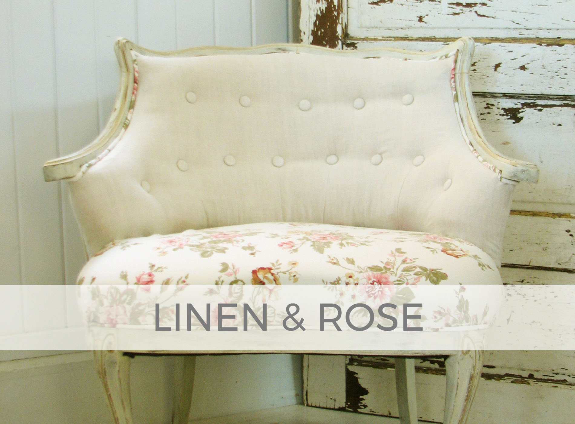 Linen and Rose Tufted Chair by Larissa of Prodigal Pieces | prodigalpieces.com #prodigalpieces