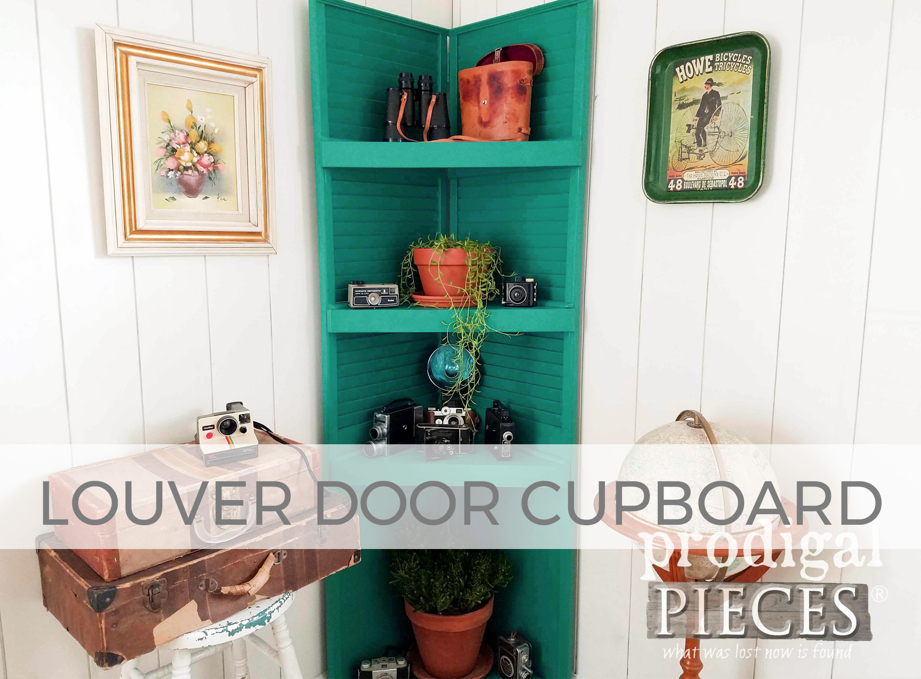 Upcycled Louver Door Cupboard by Larissa of Prodigal Pieces | prodigalpieces.com
