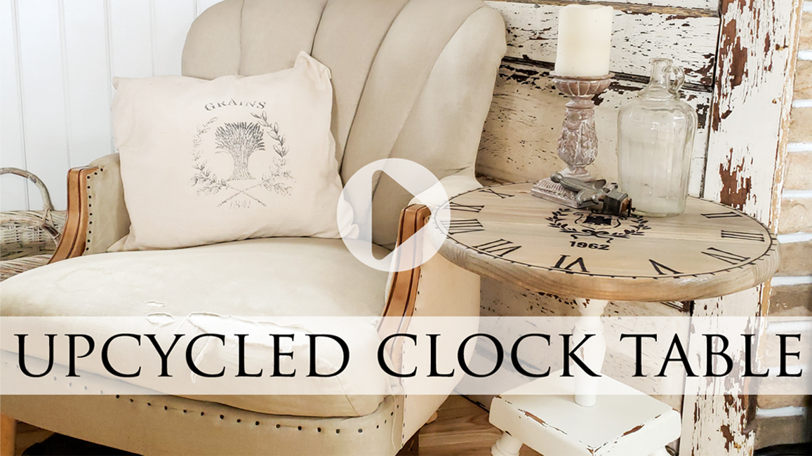DIY Clock Table from Upcycled Ash Tray by Larissa of Prodigal Pieces | prodigalpieces.com