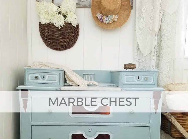 Antique Marble Chest of Drawers by Larissa of Prodigal Pieces | prodigalpieces.com #prodigalpieces