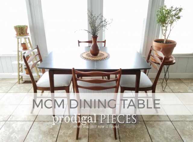 Mid Century Dining Table - How to Paint Laminate by Prodigal Pieces | prodigalpieces.com