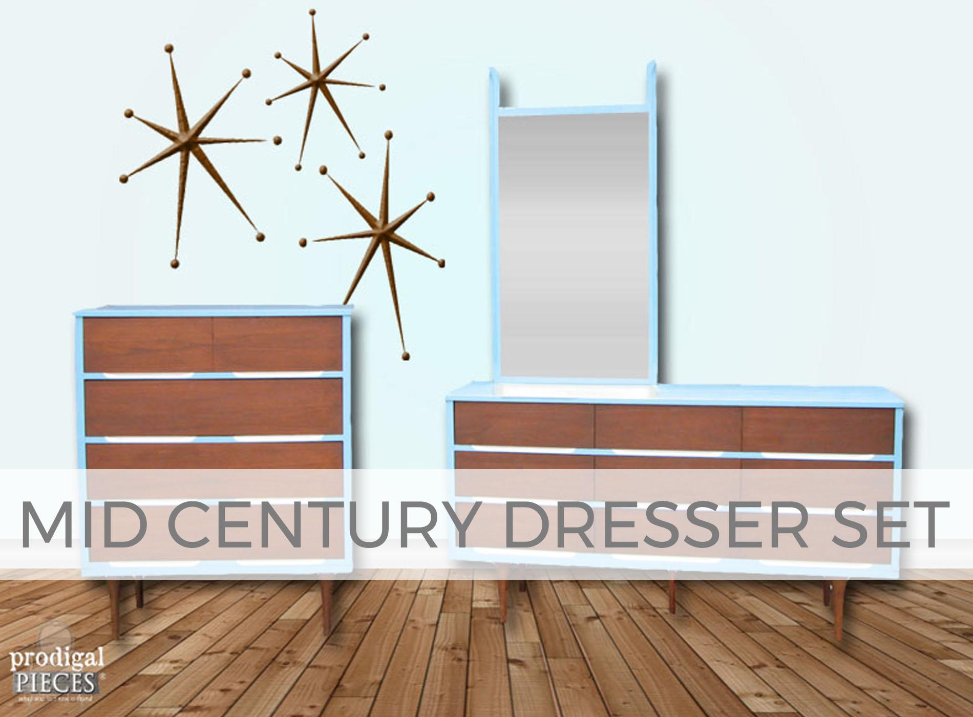 Mid Century Modern Dresser Set by Larissa of Prodigal Pieces | prodigalpieces.com