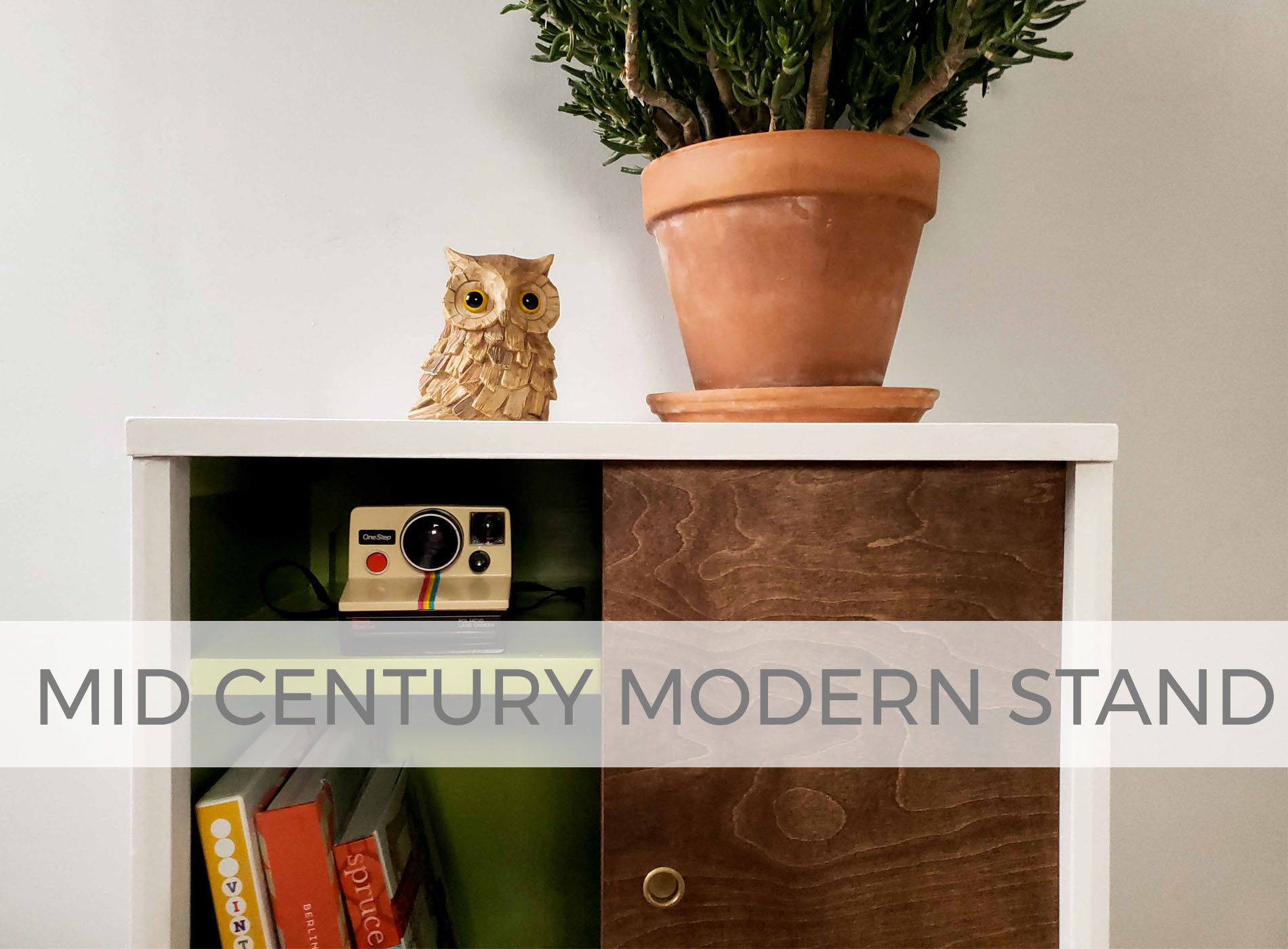 Mid Century Modern Media Stand by Larissa of Prodigal Pieces | prodigalpieces.com