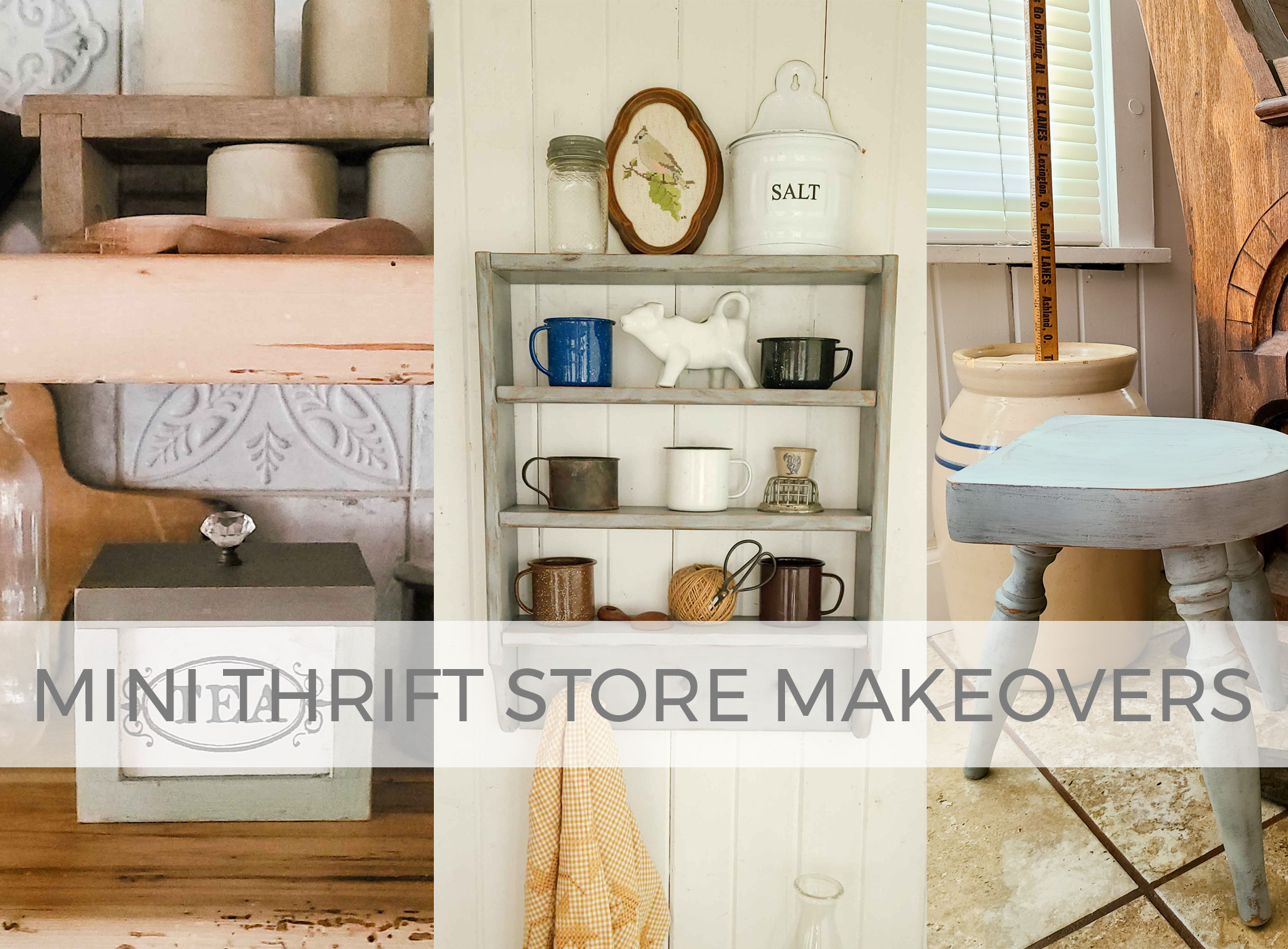 Mini Thrift Store Makeovers for Farmhouse Decor by Prodigal Pieces | prodigalpieces.com