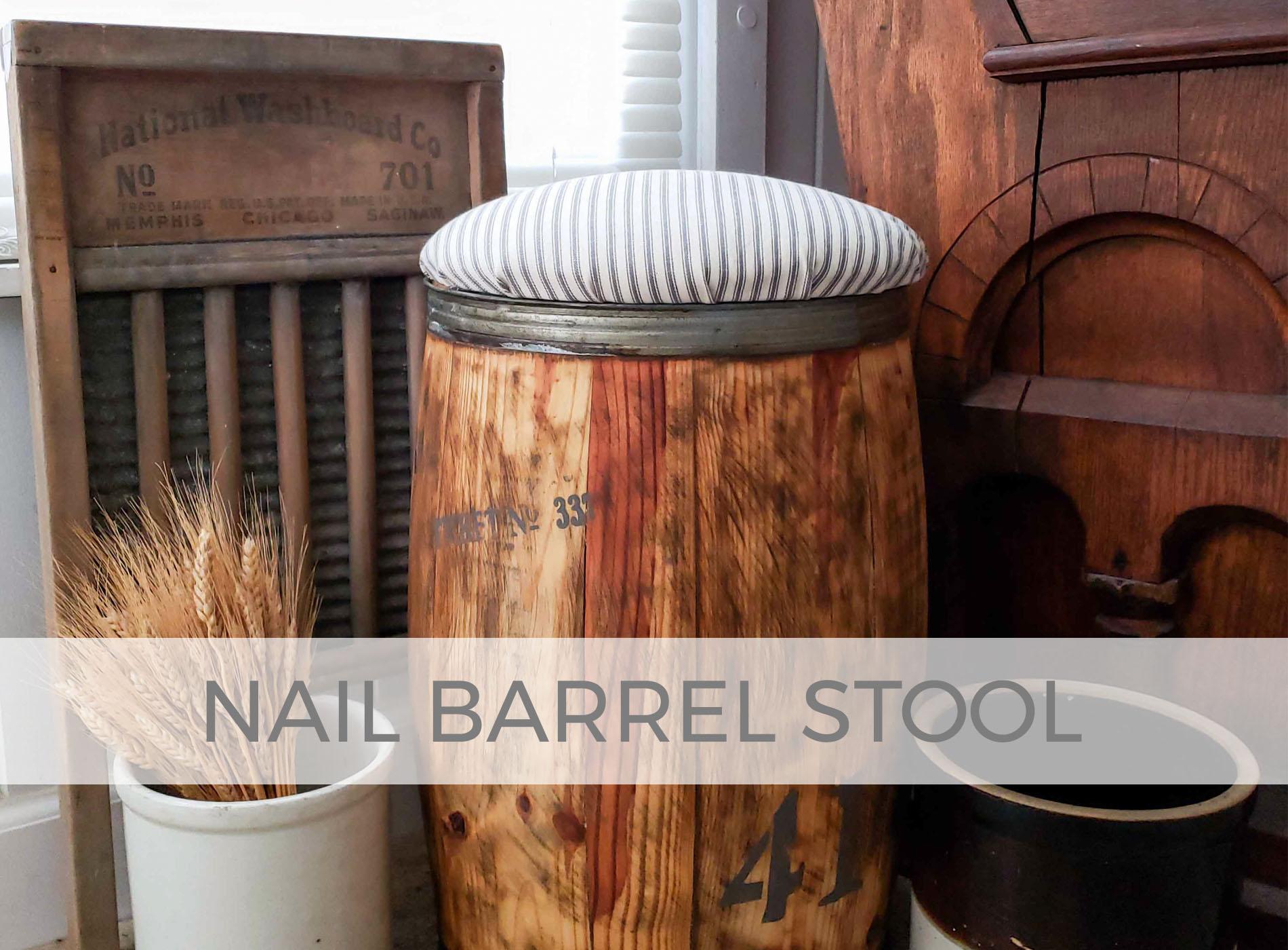 DIY Nail Barrel Stool by Larissa of Prodigal Pieces | prodigalpieces.com