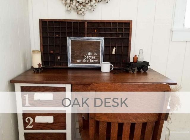 Antique Oak Desk by Larissa of Prodigal Pieces | prodigalpieces.com