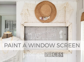 How to Paint a Window Screen Tutorial by Larissa of Prodigal Pieces | prodigalpieces.com #prodigalpieces