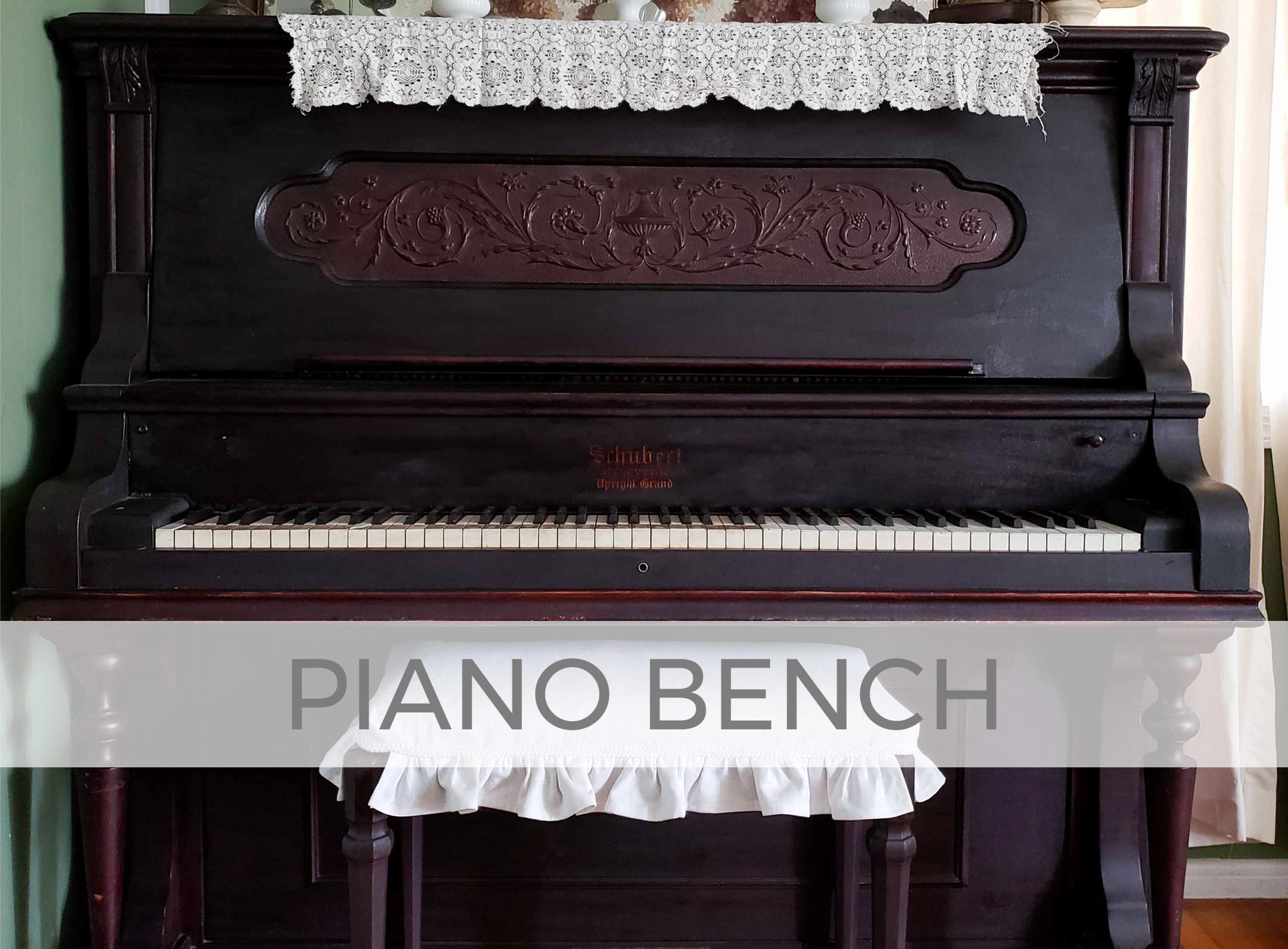 Vintage Piano Bench Updated by Larissa of Prodigal Pieces | prodigalpieces.com