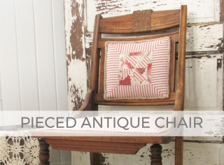 Pieced Antique Chair by Larissa of Prodigal Pieces | prodigalpieces.com