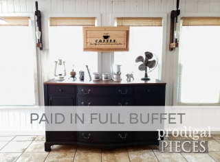 Antique Buffet Makeover for Paid in Full by Larissa of Prodigal Pieces | prodigalpieces.com