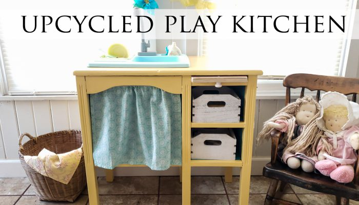 Upcycled Play Kitchen with Running Water