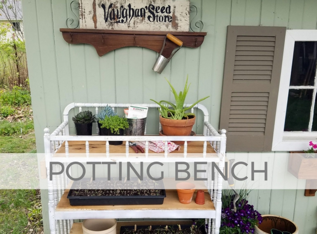 Upcycled Changing Table Potting Bench by Larissa of Prodigal Pieces | prodigalpieces.com #prodigalpieces #garden