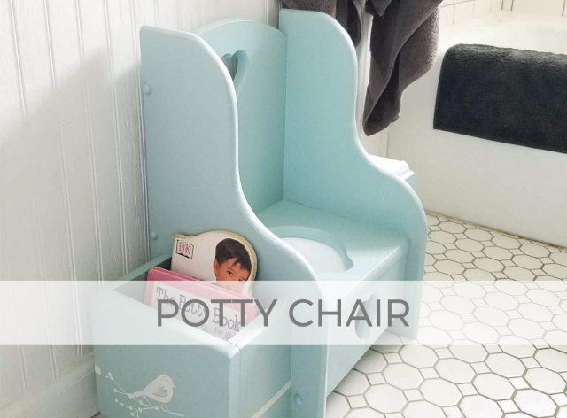Child's Potty Chair Makeover by Larissa of Prodigal Pieces | prodigalpieces.com #prodigalpieces