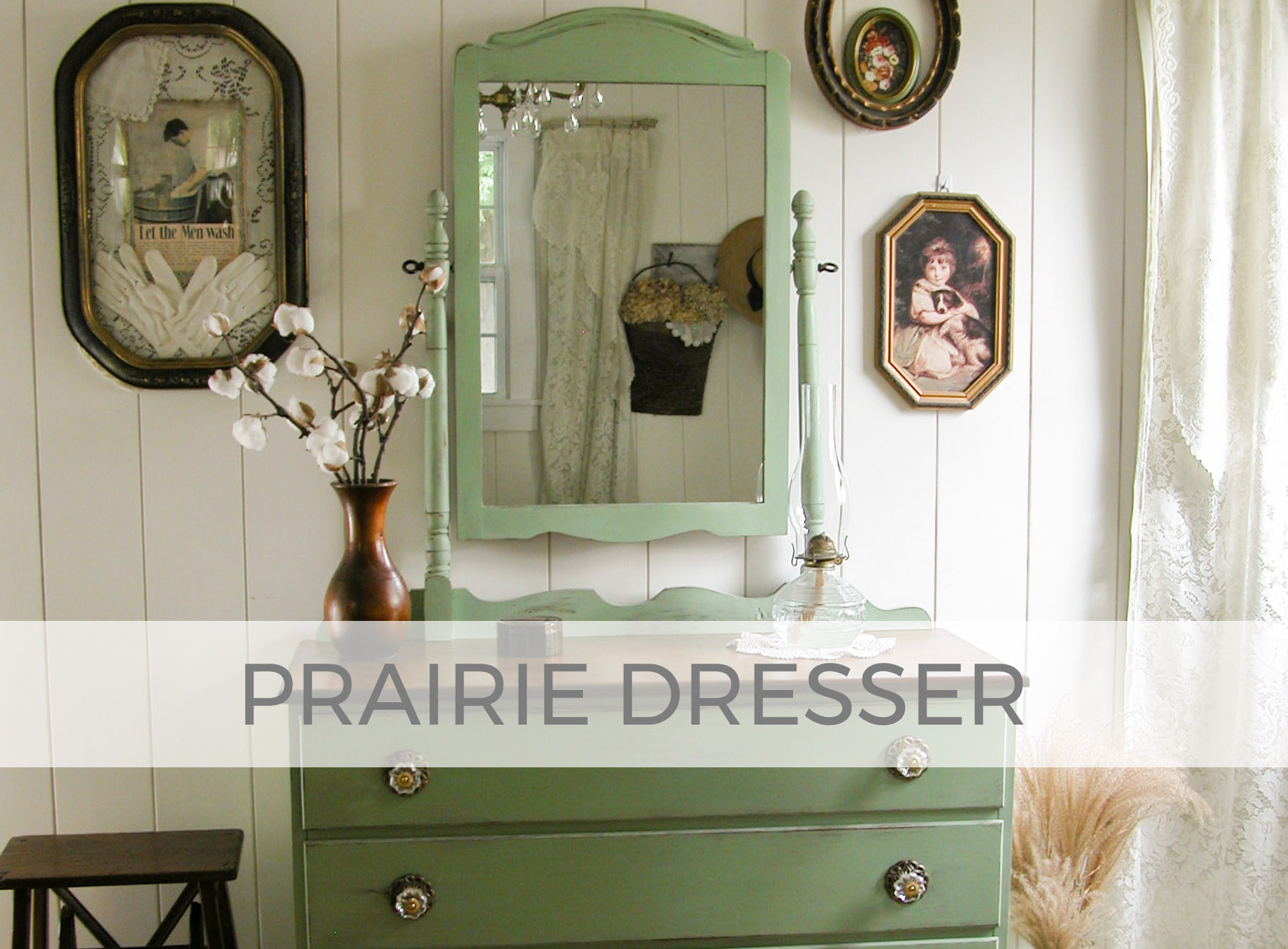 80's Dresser gets Prairie Charm by Larissa of Prodigal Pieces | prodigalpieces.com
