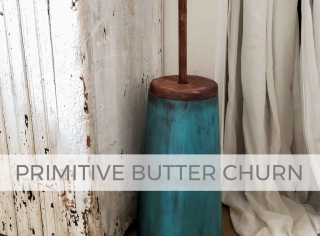 Primitive Butter Churn Makeover by Prodigal Pieces   prodigalpieces.com