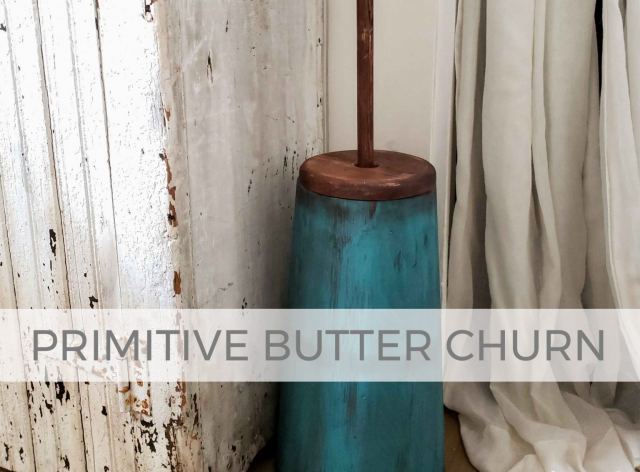 Primitive Butter Churn Makeover by Prodigal Pieces | prodigalpieces.com