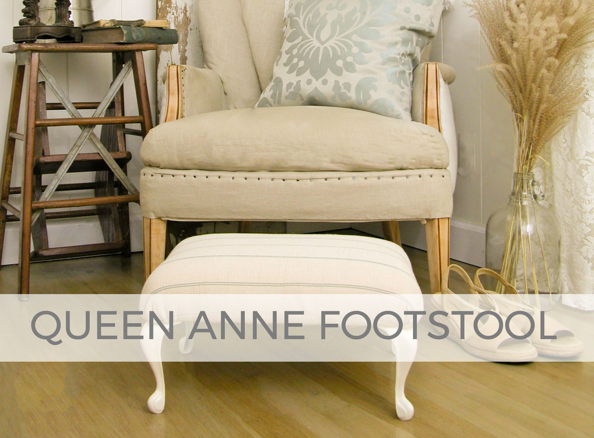 Queen Anne Footstool by Larissa of Prodigal Pieces | prodigalpieces.com