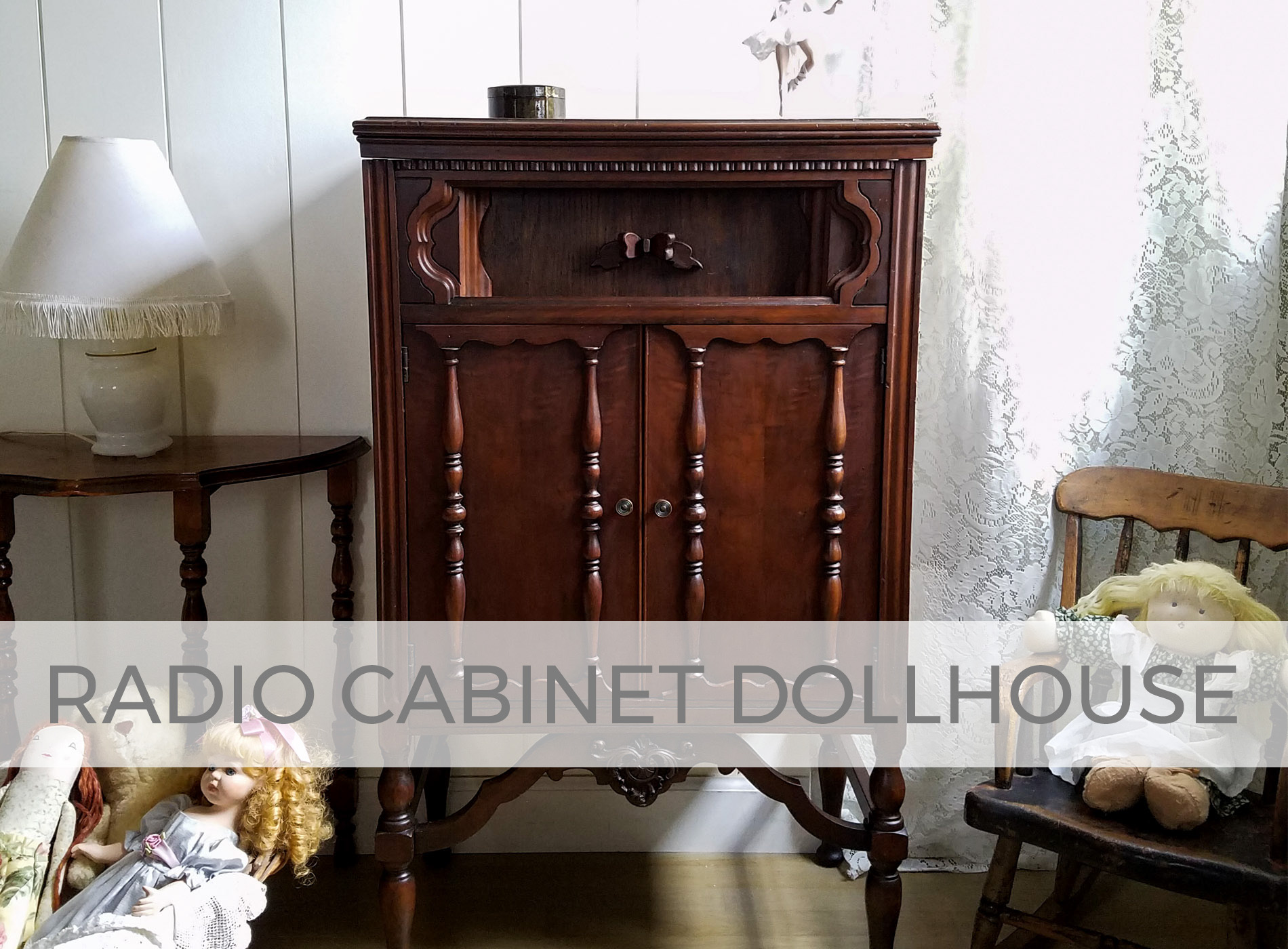 Radio Cabinet Dollhouse by Larissa of Prodigal Pieces | prodigalpieces.com #prodigalpieces