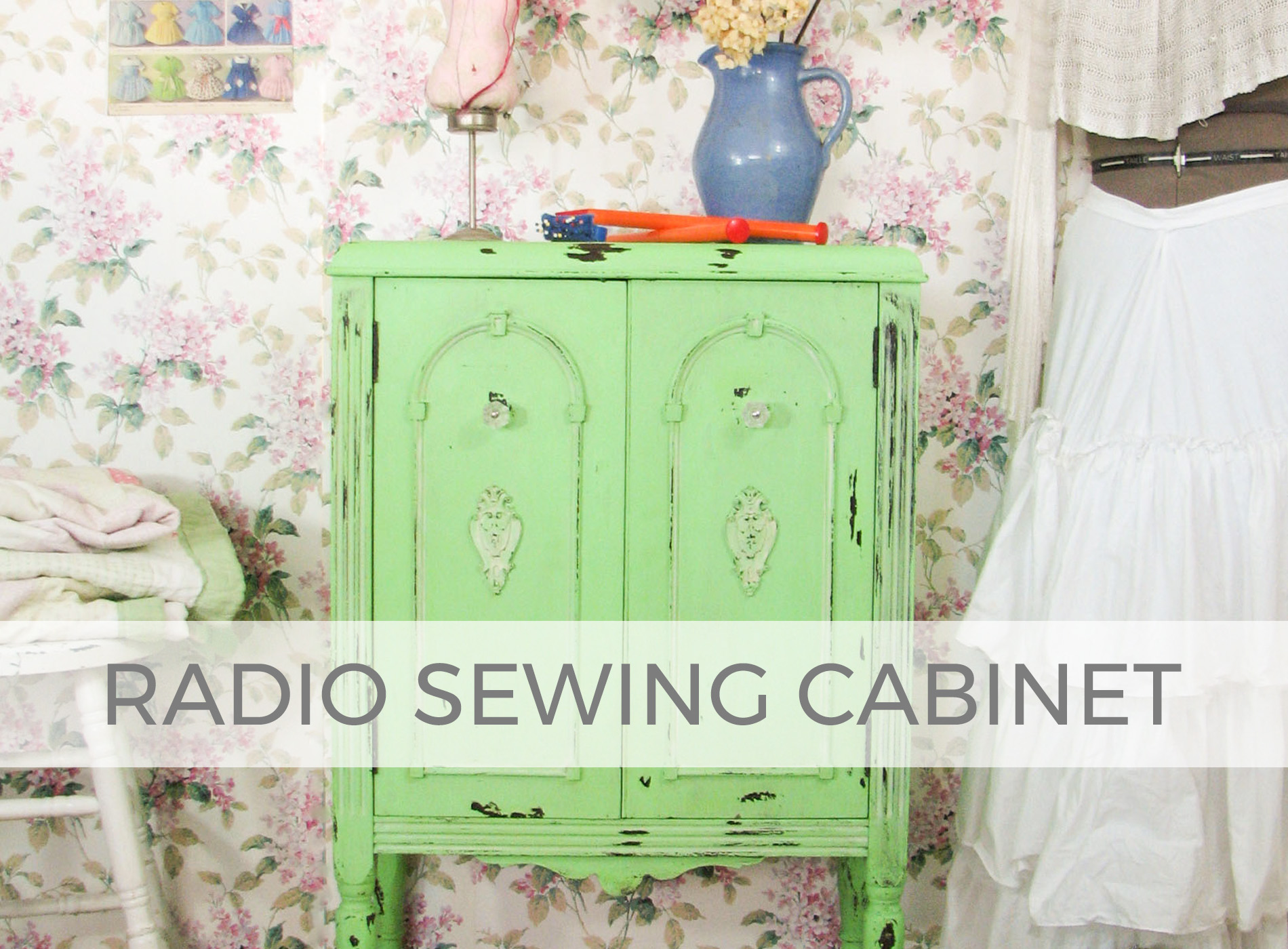 Antique Radio Turned Cabinet by Larissa of Prodigal Pieces | prodigalpieces.com #prodigalpieces