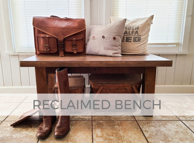Reclaimed Bench made from Antique Empire Chest by Larissa of Prodigal Pieces | prodigalpieces.com #prodigalpieces