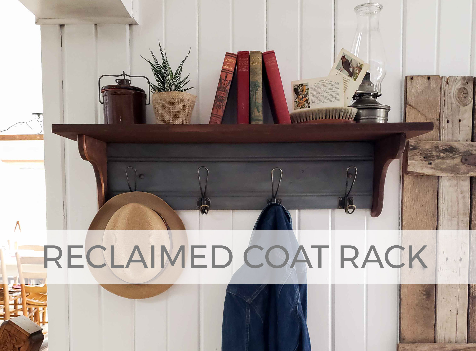 Reclaimed Coat Rack by Larissa of Prodigal Pieces | prodigalpieces.com