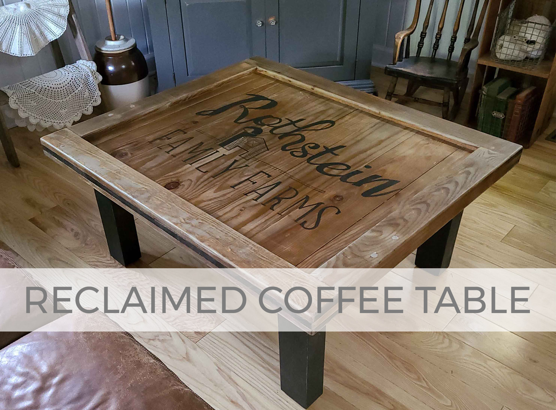 Reclaimed Coffee Table Built by Larissa of Prodigal Pieces | prodigalpieces.com