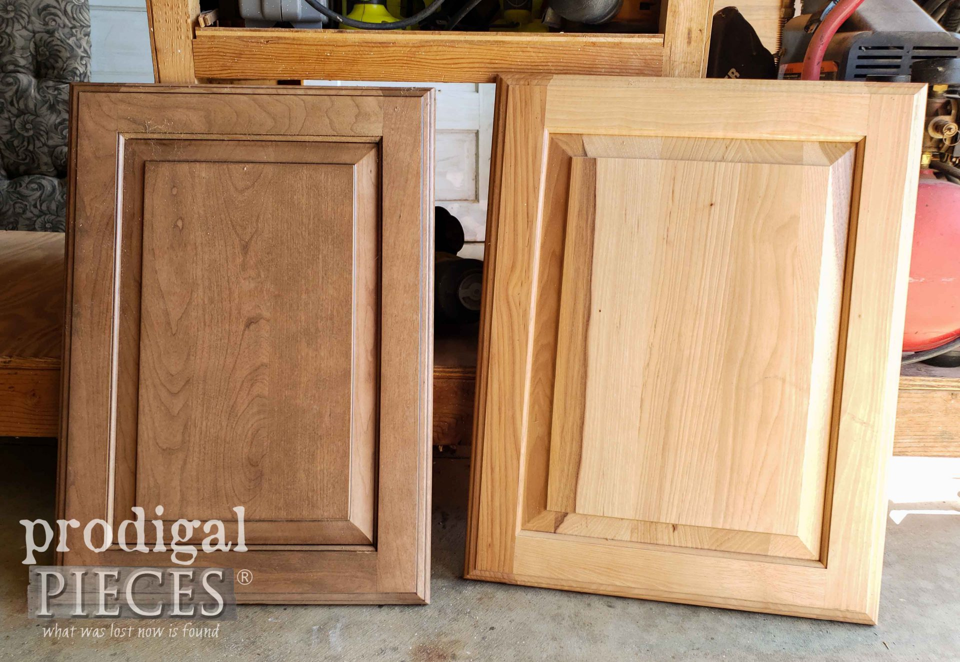 Reclaimed Cupboard Doors Before Upcycling by Larissa of Prodigal Pieces | prodigalpieces.com #prodigalpieces