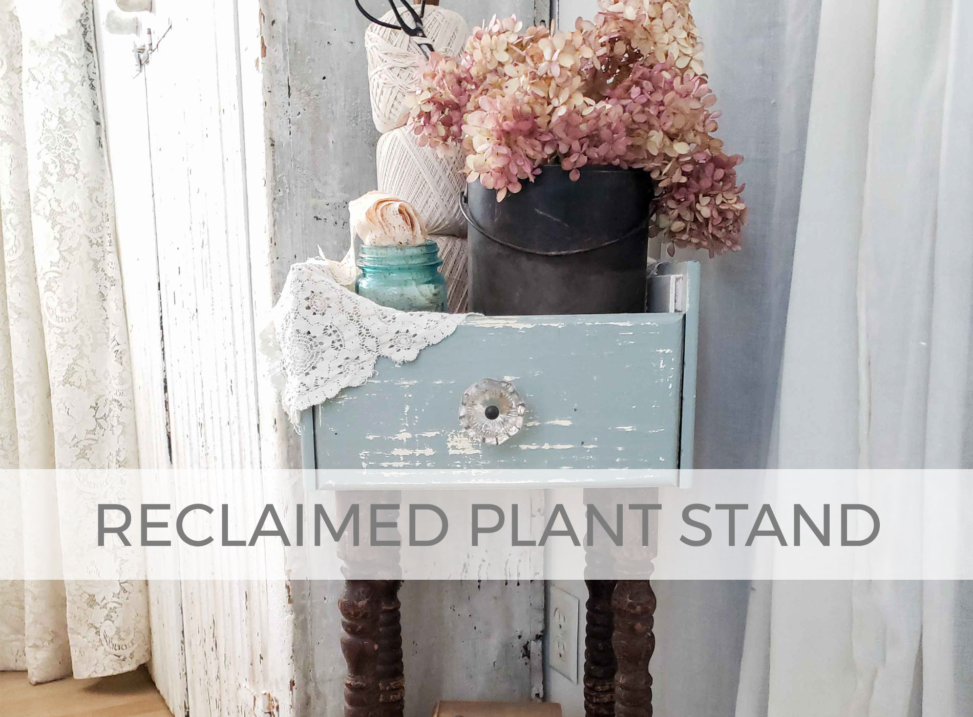 Reclaimed Plant Stand by Prodigal Pieces | prodigalpieces.com