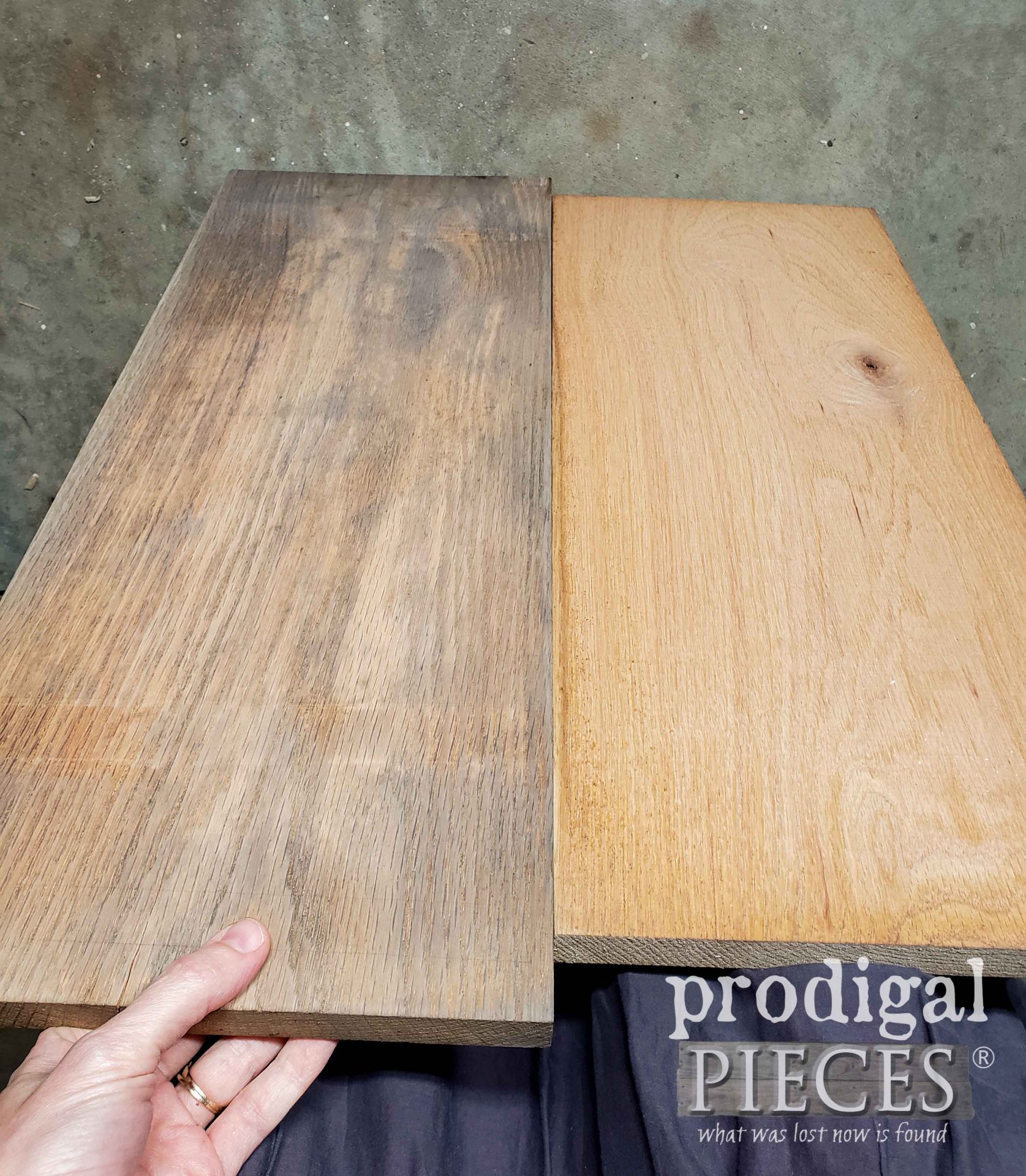 Natural Reactive Stain by Weatherwood in Reclamation for Upcycled Pet Organizer | prodigalpieces.com