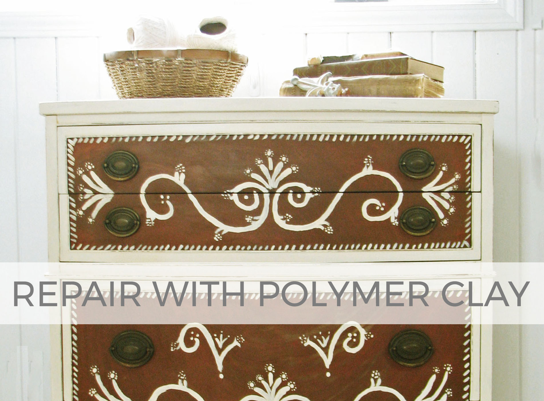 How to Repair Furniture Trim with Polymer Clay by Larissa of Prodigal Pieces | prodigalpieces.com