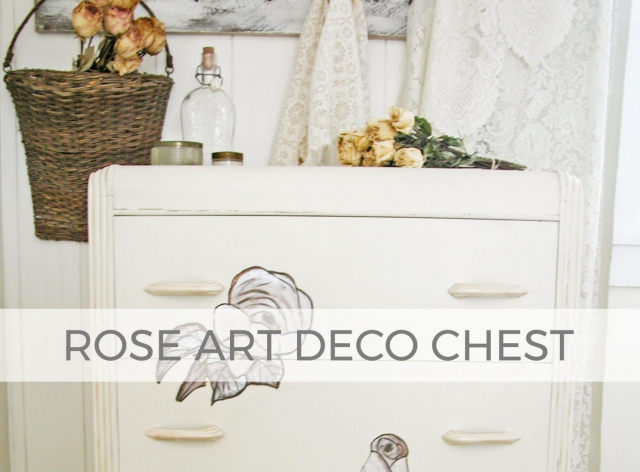 Art Deco Chest with Rose Painting by Larissa of Prodigal Pieces | prodigalpieces.com