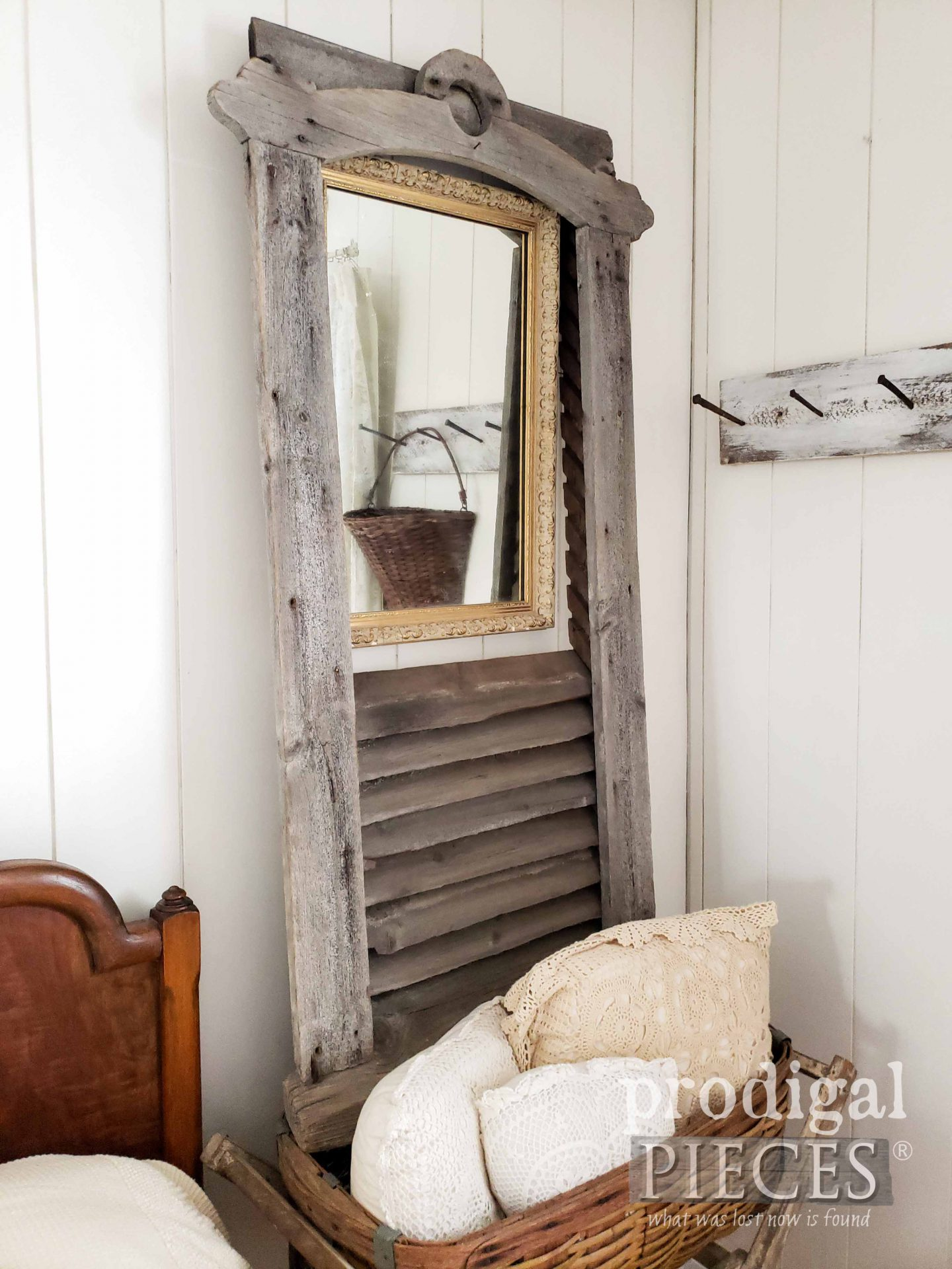 Architectural Salvage Antique Barn Vent Mirror by Larissa of Prodigal Pieces | prodigalpieces.com #prodigalpieces #home #farmhouse #homedecor #architectural