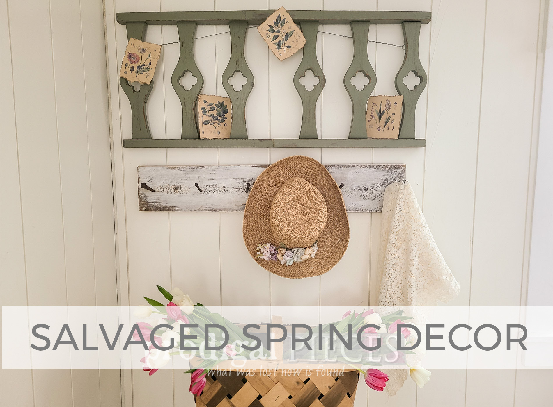 Salvaged Spring Decor from Broken Chairs by Larissa of Prodigal Pieces | prodigalpieces.com #prodigalpieces