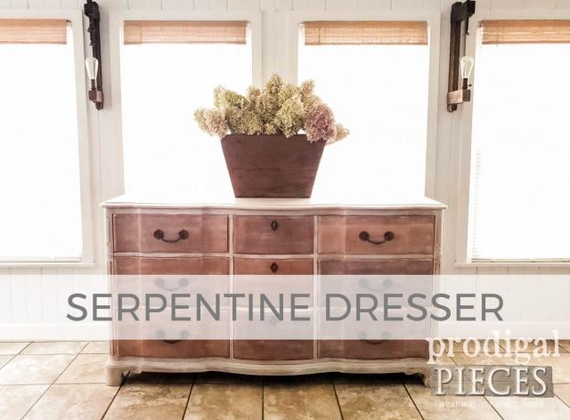 Mahogany Serpentine Dresser by Larissa of Prodigal Pieces | prodigalpieces.com