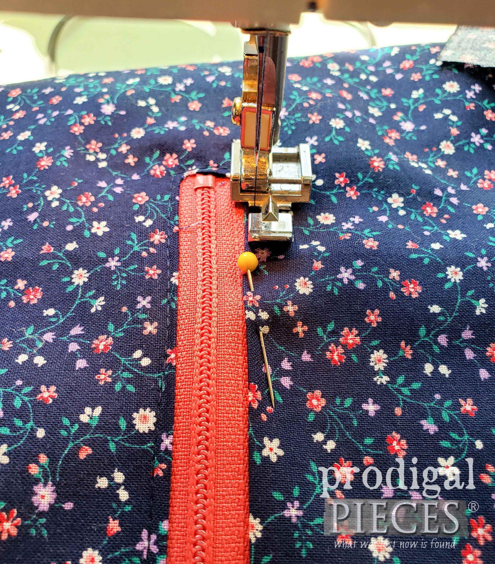 Sewing Zipper Pocket | prodigalpieces.com