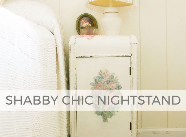 Shabby Chic Nightstand by Prodigal Pieces | prodigalpieces.com