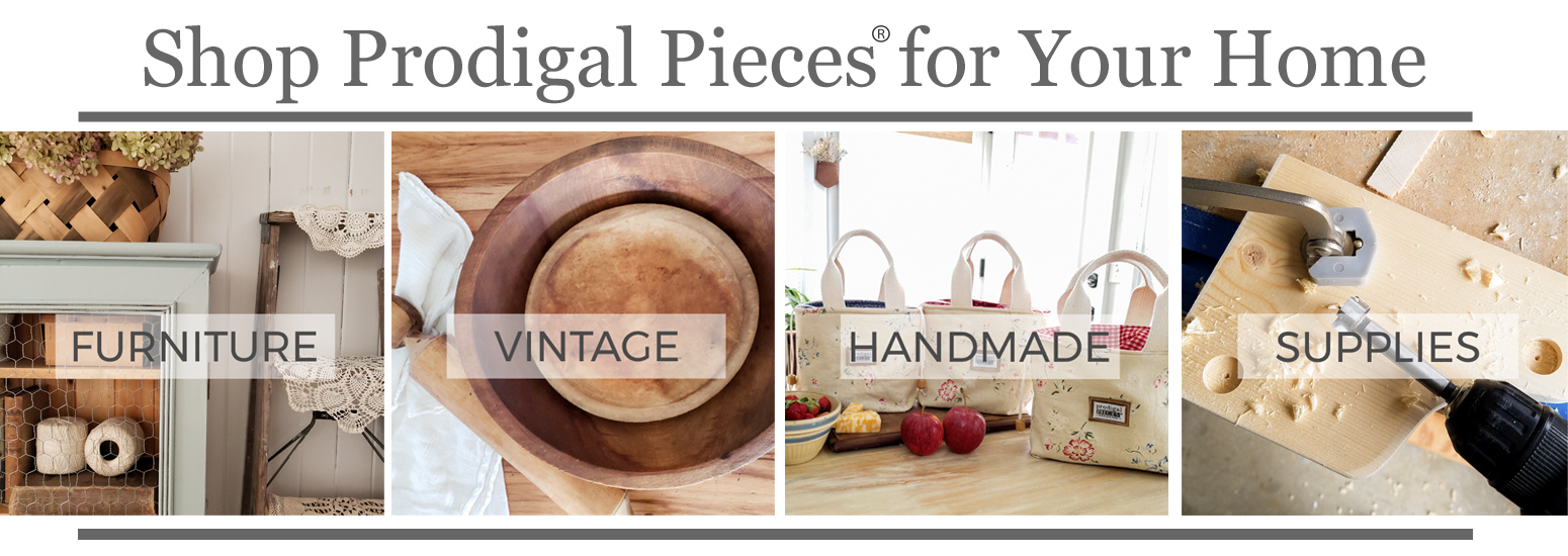 Shop Prodigal Pieces Furniture, Vintage Finds, Handmade Goods, & Supplies for your home | shop.prodigalpieces.com #prodigalpieces