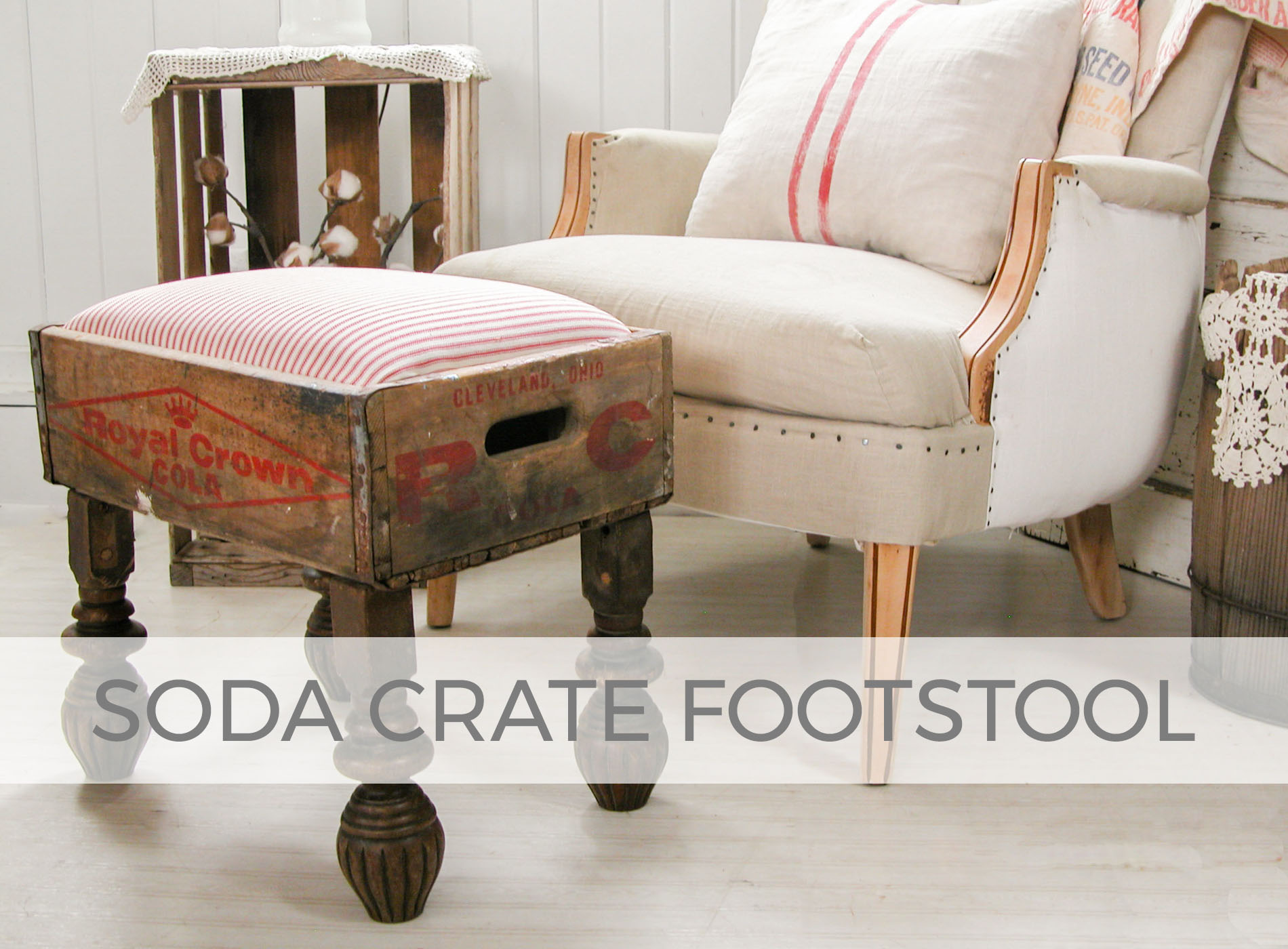 Soda Crate Footstool by Larissa of Prodigal Pieces | prodigalpieces.com