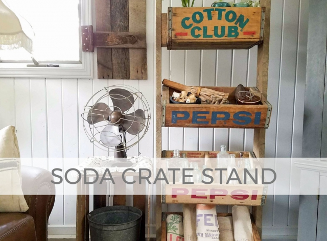 Upcycled Soda Crate Stand by Larissa of Prodigal Pieces | prodigalpieces.com