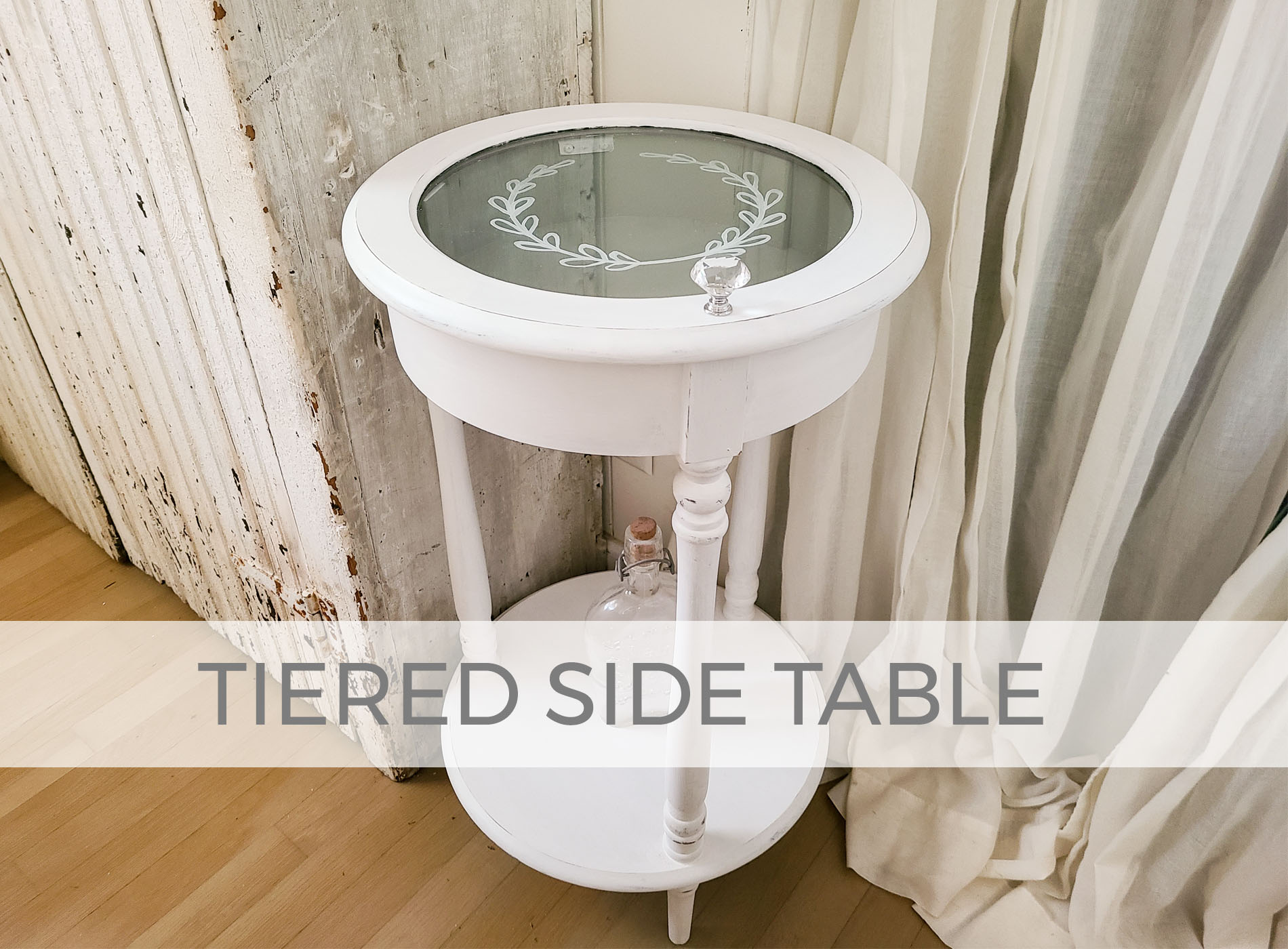 Tiered Side Table with Glass Cabinet by Larissa of Prodigal Pieces | prodigalpieces.com #prodigalpieces