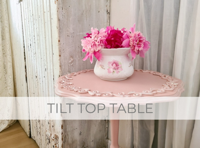 Tilt Top Table Makeover by Prodigal Pieces | prodigalpieces.com