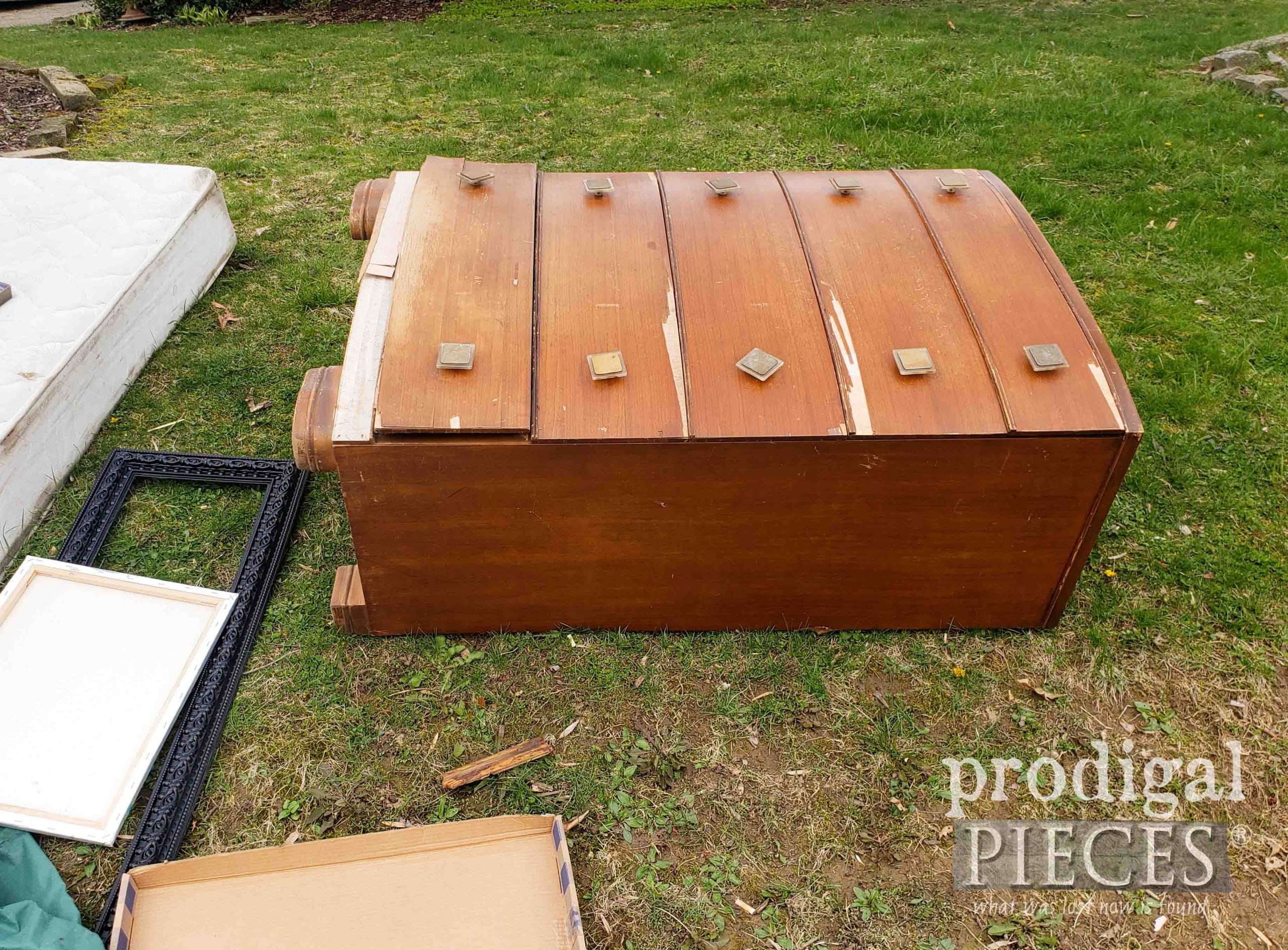 Trashed Art Deco Chest of Drawers by Larissa of Prodigal Pieces | prodigalpieces.com #prodigalpieces